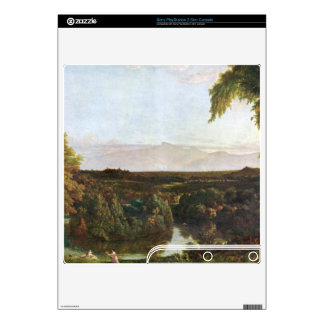 In the Catskills -Thomas Cole by Frederick  Church PS3 Slim Decal