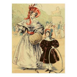 In the Champs-Élysées 1832 Postcard