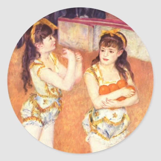 In the Circus Fernando by Renoir Classic Round Sticker