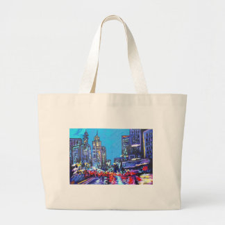 in the city large tote bag