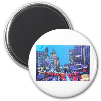 in the city 2 inch round magnet