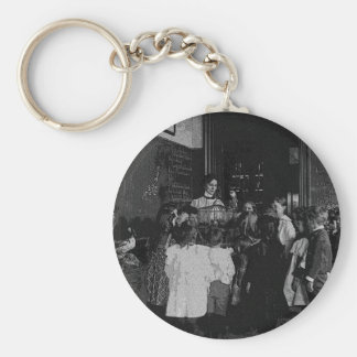 In the Classroom Basic Round Button Keychain