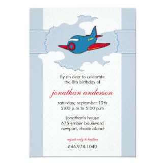 In the clouds -airplane birthday invitations -2