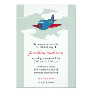 In the clouds -airplane birthday invitations -3