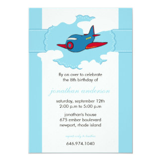 In the clouds -airplane birthday invitations -4