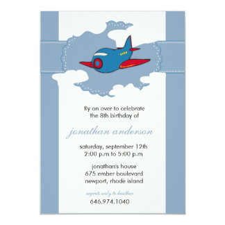 In the clouds -airplane birthday invitations - 6