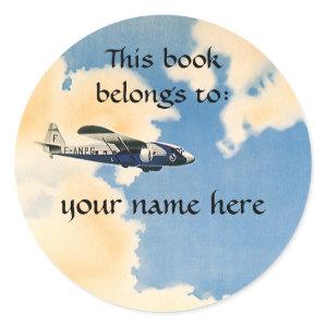 In the Clouds Bookplate sticker