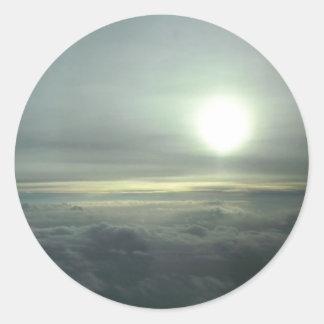 In the Clouds Classic Round Sticker