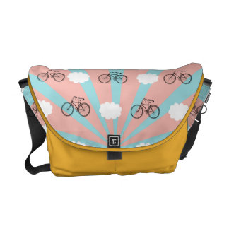 In The Clouds Flying Bicycle Messenger Bag