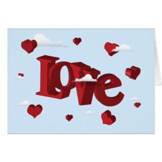 In The Clouds In Love Card