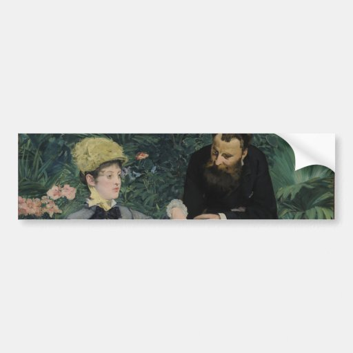 In the Conservatory by Edouard Manet Bumper Stickers