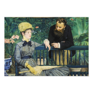 In the Conservatory by Edouard Manet in 1879 Personalized Invite