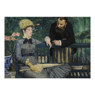 In the Conservatory by Edouard Manet Personalized Invitations