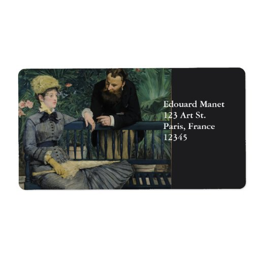 In the Conservatory by Edouard Manet Shipping Label