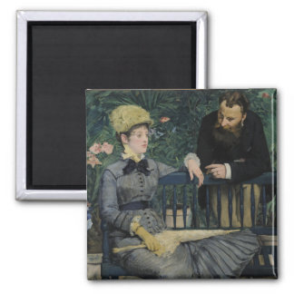 In the Conservatory by Edouard Manet Magnet