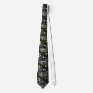In the Conservatory by Edouard Manet Neck Tie
