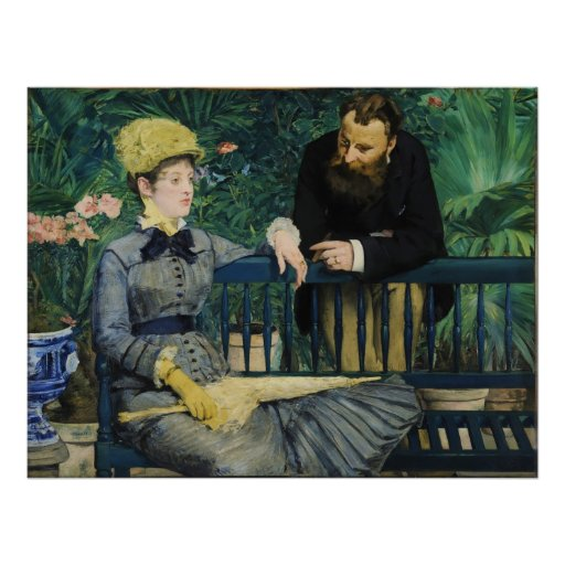In the Conservatory by Edouard Manet Poster