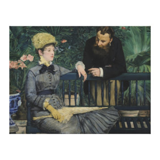 In the Conservatory - Édouard Manet 1879 Gallery Wrap Canvas