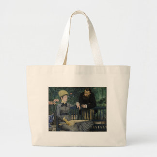 In the Conservatory - Édouard Manet (1879) Large Tote Bag