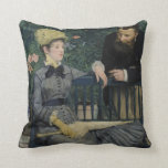 In the Conservatory - Édouard Manet (1879) Throw Pillow