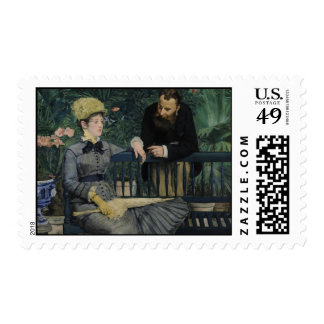 In the Conservatory - Édouard Manet (1879) Postage