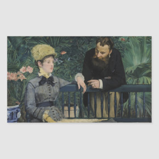 In the Conservatory - Édouard Manet (1879) Rectangular Sticker