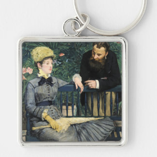In the Conservatory, Édouard Manet Keychain