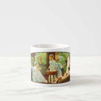 In The Conservatory - Espresso Mug 6 Oz Ceramic Espresso Cup