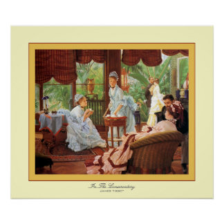 In The Conservatory ~ James Tissot ~ Fine Art Poster