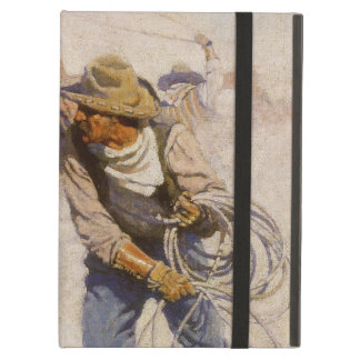 In the Corral by NC Wyeth, Vintage Western Cowboys iPad Covers
