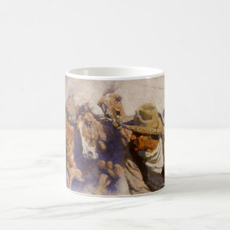In the Corral by NC Wyeth, Vintage Western Cowboys Coffee Mug