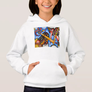 In The Cosmos-Abstract Art Hand Painted Geometric Hoodie