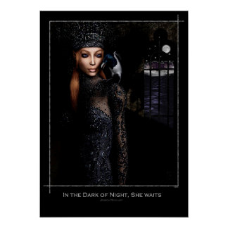 In the Dark of Night, She Waits Poster