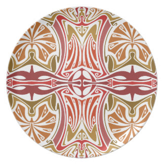 In the desert Art Nouveau Party Plates