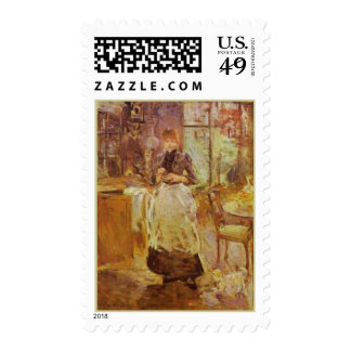 In The Dining Room Berthe Morisot Fine Art Stamps