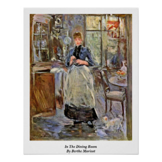 In The Dining Room By Berthe Morisot Poster