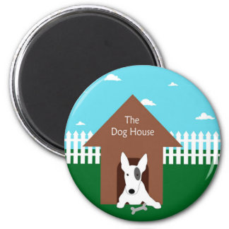 In The Dog House 2 Inch Round Magnet