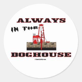 In The Doghouse, Oil Field Sticker,Oil Rigs,Oil Classic Round Sticker