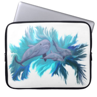 In the dolphin - school computer sleeve