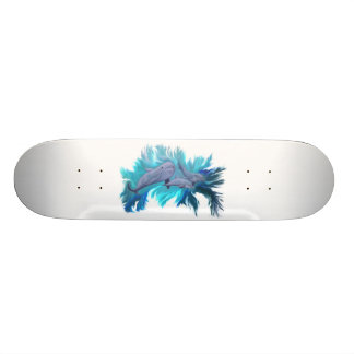 In the dolphin - school skateboard deck