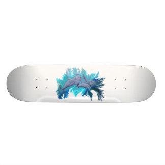 In the dolphin - school skateboard deck