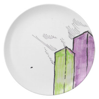 In the downtown area melamine plate