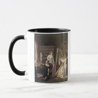 In the Drawing Room (w/c on paper) Mug