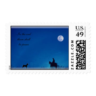 In the end there shall be peace stamp