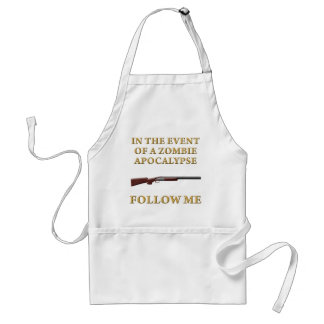 In the Event of a Zombie Apocalypse Adult Apron