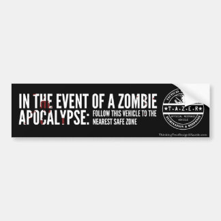 In The Event of A Zombie Apocalypse: Bumper Sticker