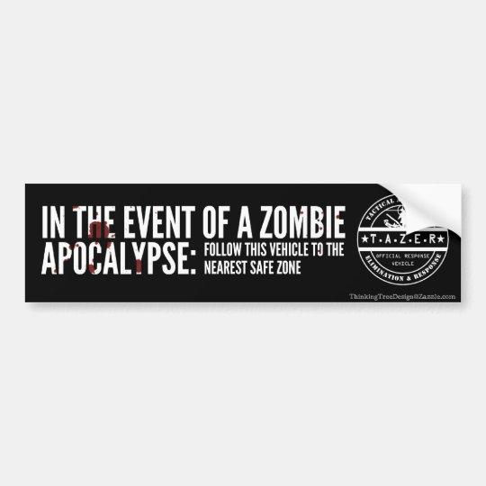 In The Event of A Zombie Apocalypse: Bumper Sticker