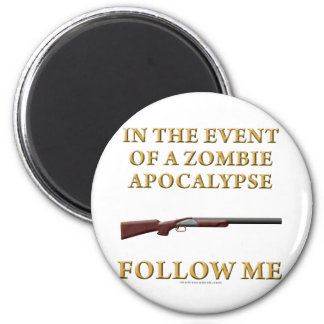 In the Event of a Zombie Apocalypse Refrigerator Magnet