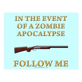 In the Event of a Zombie Apocalypse Postcard