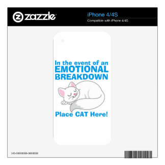 In the event of an EMOTIONAL BREAKDOWN Place Cat Skin For The iPhone 4S